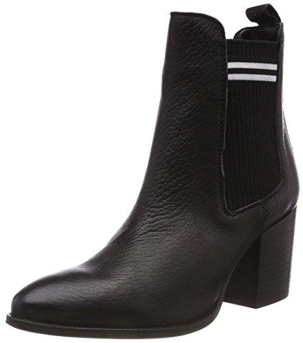 Hilfiger Denim Damen Sock MID Heel Chelsea Boots, Schwarz (Black 990), 39 EU