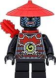 LEGO Ninjago - Figura decorativa de Späer del ejército de piedra (Stone Army Scout, marcas faciales azules) con ballesta y espada