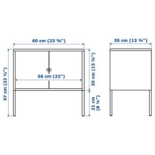 IKEA LIXHULT armario 60x35 cm metal/gris