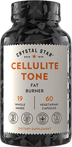 Crystal Star Cellulite Tone (60 Capsules) - Herbal Supplement That Helps Release Cellulite & boosts Fat to Energy - Fenugreek, Lecithin & Turmeric - Non-GMO