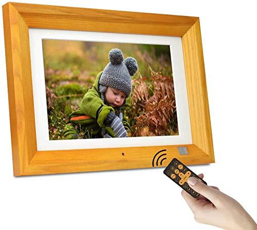 KODAK RDPF-1020V Digitaler Fotorahmen10.1 Zoll, Hölzern Elektronischer Bilderrahmen, 1280 x 800 IPS, Bild Musik Video Funktion mit Fernbedienung(Burlywood)