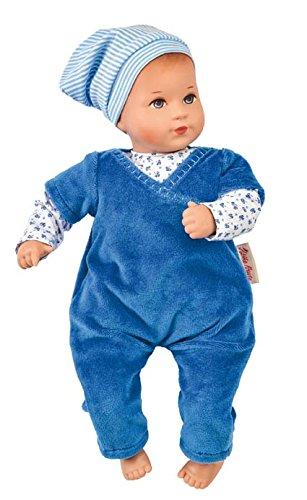 Käthe Kruse 136553 Baby-Puppe Mini Bambina Luis mit weichem Körper blau 33 cm