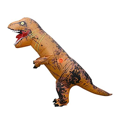 Disfraz Dinosaurio Hinchable, Disfraz Dinosaurio, Traje de Halloween, Fiesta Cosplay Ropa de Dibujos Animados Dino vestirse niños marrón