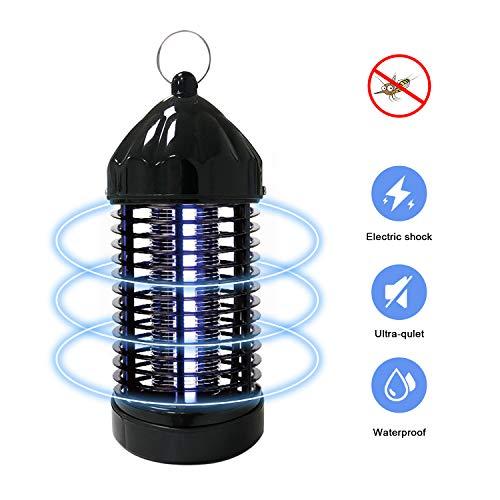 Elektrischer Insektenvernichter, Insektenkiller Moskito Killer UV LED Mückenvernichter Mückenfalle Insektenvernichter Mückenlampe Elektro-Fliegenfalle Elektrischer Insektenfalle (8X3.2CM, Schwarz)