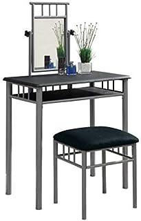 Monarch especialidades Negro y Plata Metal Mueble para Lavabo Set 2Piezas
