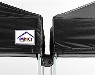 Impact Canopy 10-Foot Canopy Tent Rain Gutter, Black