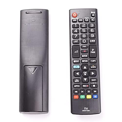 MJJCY Aplicar para Control Remoto AKB73715601 por LG 55LA690V 55LA691V 55LA860V 55LA868V AKB733D, Universal Inteligente TV LCD LED Controlador Reemplazar el Control Remoto (Color : Black)