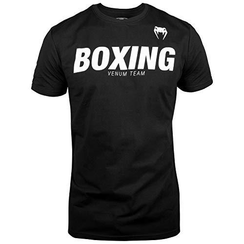 Venum Herren Boxing VT T-Shirts, Schwarz/Weiß, L