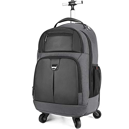 Laptop Trolley Bag on Wheels, Travel Laptop Backpack Wheeled Holdall Bags, Suitable for 15.6In Laptop/2-3 Days Short Trip,Nero,20in