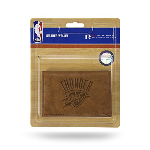 Rico Industries NBA Oklahoma City Thunder Leather Trifold Wallet with Man Made Interior