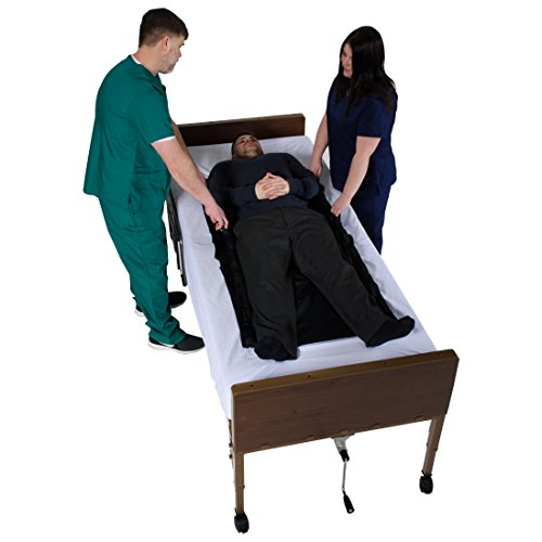 """Patient Aid 57"""" x 28"""" Tubular Reusable Slide Sheet with Handles - for Patient Transfers, Turning, and Repositioning in Bed - Sliding Draw Sheets to Assist Moving Elderly & Disabled"""