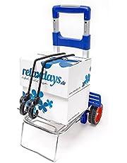 Relaxdays - Carro de transporte, 36 x 30 x 93 cm, Plegable, 35 kg Carro de aluminio y plástico Transportación