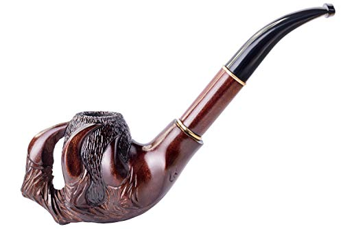 Dr. Watson - Pipa de Fumar de Madera del Tabaco, tallada a mano, se adapta al filtro de 9mm, Serie Lux Coleccionable, viene con bolsa, en caja (Garra)
