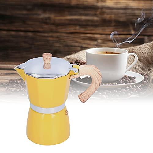 FECAMOS Cafetera, cafetera de Calentamiento rápido con diseño ergonómico de Mango para café para Oficina(Yellow)