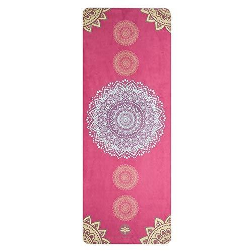 N / A Travel Yoga Mat Pad Ultraleichtes Gummi-Thermo-Kunststoff-Elastom 183 cm * 68 cm Fitness-Fitness-Pilates-Decken Yoga-Handtuch 183x68x0,1CM