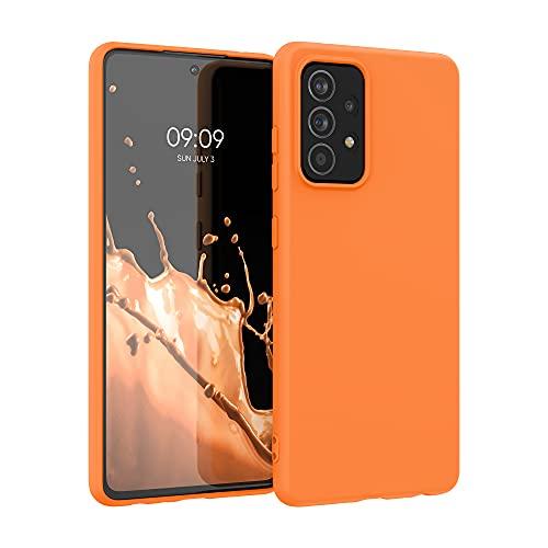 kwmobile Hülle kompatibel mit Samsung Galaxy A52 / A52 5G / A52s 5G - Hülle Silikon - Soft Handyhülle - Handy Hülle in Cosmic Orange
