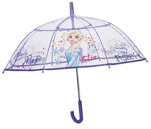 PERLETTI Frozen Paraguas Transparente automático 70cm, Multicolor, 70 cm