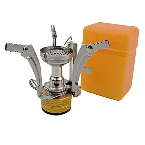 Estufa De Camping Gas Port¨¢Til Estufa Ligera De Gas para Cocinar Al Aire Libre Senderismo Pesca con Mochila Naranja