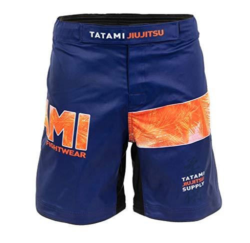 Tatami Fightwear Grappling Fight Pantalones cortos Tropic Navy - MMA Fitness Jiu Jitsu Short Pantalones de artes marciales para hombre, Hombre, trp-nvy-shorts, azul, large