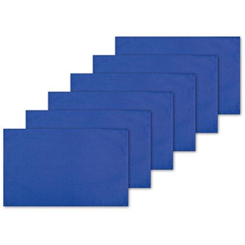 Bestlivings 6er Set Tischsets Platzset Tischuntersetzer Platzdeckchen Tischdeko Tischmatte Essensunterlage Maße 30x45 cm, Farbe: blau - Royalblau