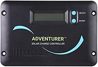 Renogy Adventurer 30A 12V/24V Negative Ground PWM Flush Mount Charge Controller with LCD Display, Compatible with Sealed, Gel, and Flooded Batteries