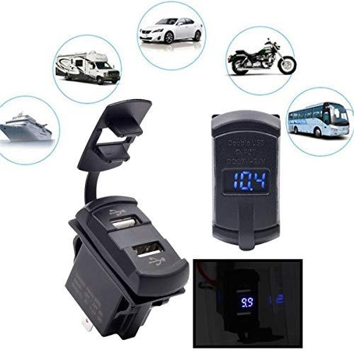 Motoronderdelen voor de verkoop 12-24 V motorfiets auto boot USB-stopcontact met voltmeter