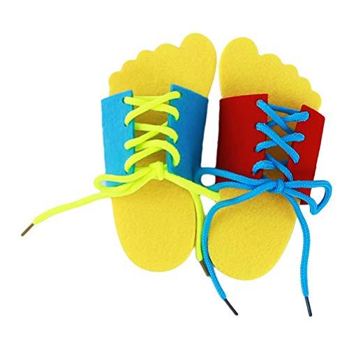 Flybloom Lernen, Spitze Binden Schuhe Praxis Schnürung Lernen Schuh Kinder Schnürsenkel (Slipper Schnürsenkel)