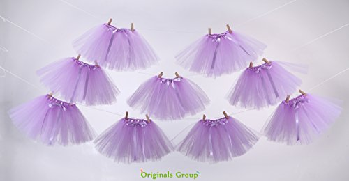 Originals Group Tutu Table Skirt,Baby Pink Tulle Tutu Table Skirt Decor, Birthday Event Wedding Party Decoration (Mini Lavender Tutu Garland)
