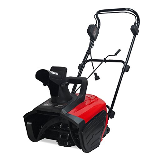 XtremepowerUS 1600w Ultra Electric Snow Blaster 18 inch Snow Thrower Adjustable Directional Driveway Walkway