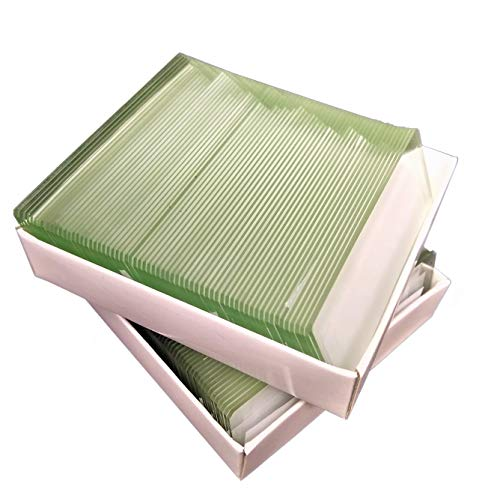 144 Clear Microscope Slides 3''x1'' Precleaned with Ground Edges (Clear) - 2 Boxes of 72