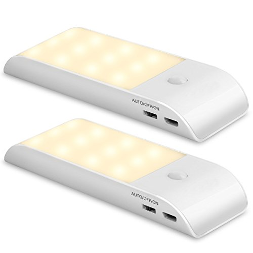 Luz de noche recargable con sensor de movimiento
