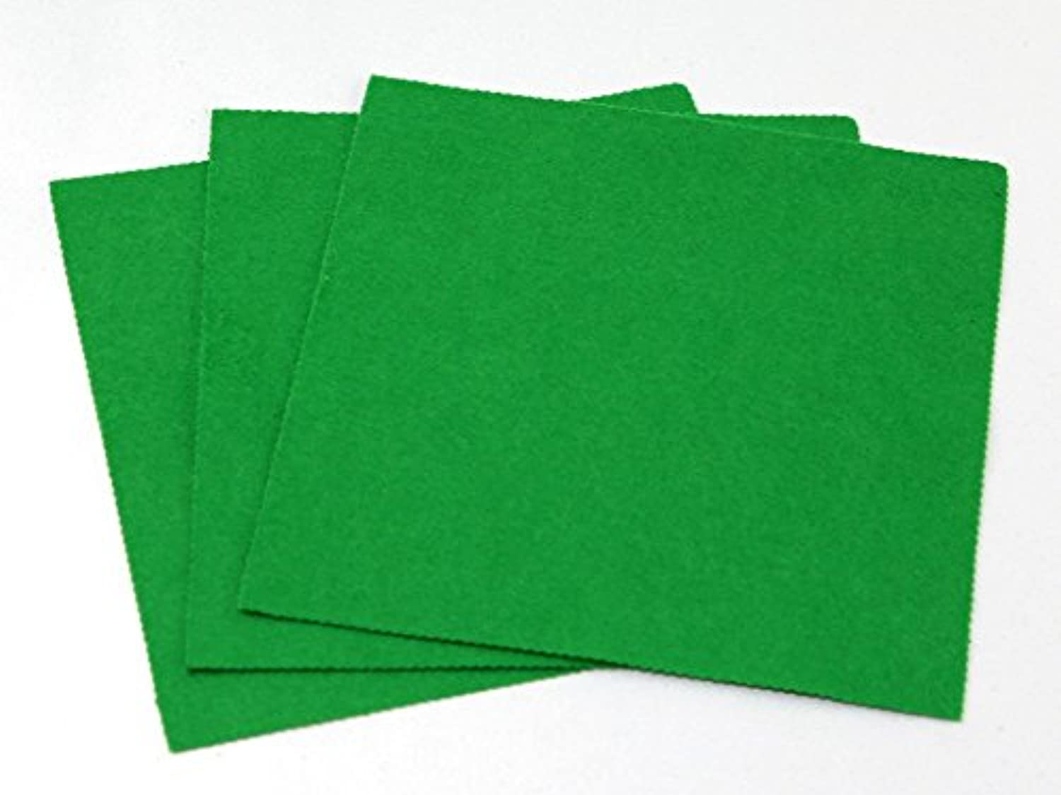 Minerva Crafts Sticky Back Self Adhesive Acrylic Felt Fabric 18  Square Meadow Green - per pack of 100
