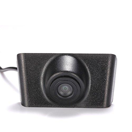 Dynavsal Véhicule spécifique à un véhicule Vue avant Logo Système de stationnement intégré avec CCD imperméable à l'eau IP67 Grand degré (moyen), noir pour IX35 2013 front logo camera