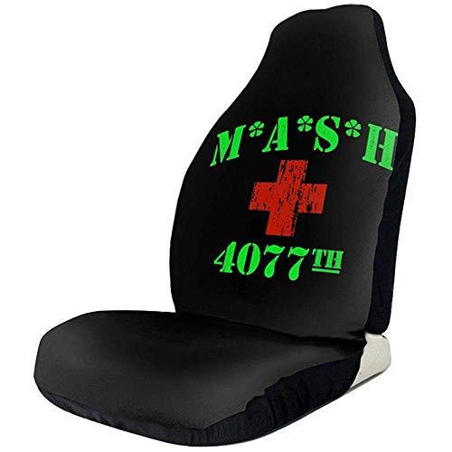 NA 2 STÜCKE, MASH 4077. Logo Universal Autositzbezüge Vordersitze Protektoren für PKW, LKW und SUV