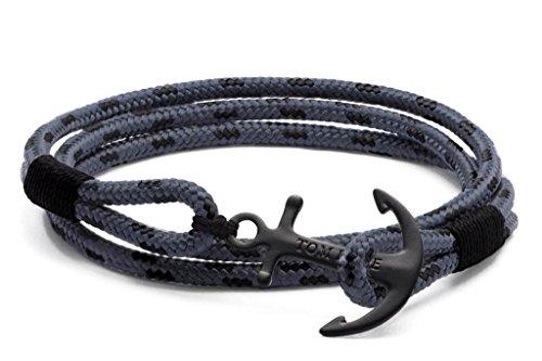 Bracelet Tom Hope Eclipse Triple Tour Gris - S : 16.5 à 18 cm