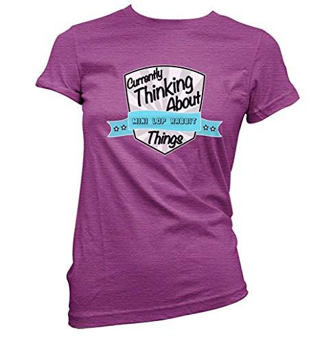 Currently Thinking Etwa Mini Lop Hase Damen T-Shirt (Pick Farbe und Größe) - Antike Heliconie, XL (Größe 14)