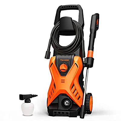 PAXCESS Electric Power Pressure Washer 2500 PSI 1.6 GPM High Power Wash with Adjustable Spray Nozzle, Foam Cannon, IPX5, Car Washer, Pressure Cleaner for Home Use