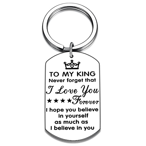 Just Because Gifts for Husband To My Man Never Forget That I Love You Forever Believe in Yourself Keychain for Him Boyfriend Anniversary
