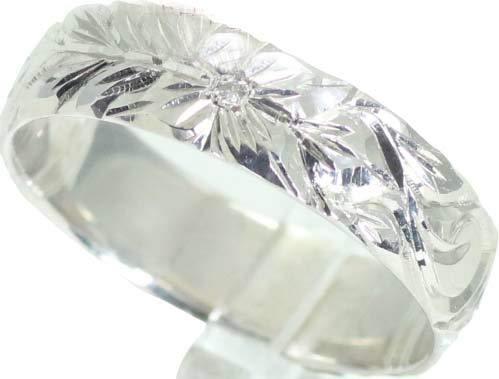 [京都ジュエリー工房] ハワイアンジュエリー 結婚指輪 マリッジリング ペアリング用 手作り ハワイアン リング 5mm幅 地金素材:K18 ホワイトゴールド 26-2986 誕生石:12月 タンザナイト 14号