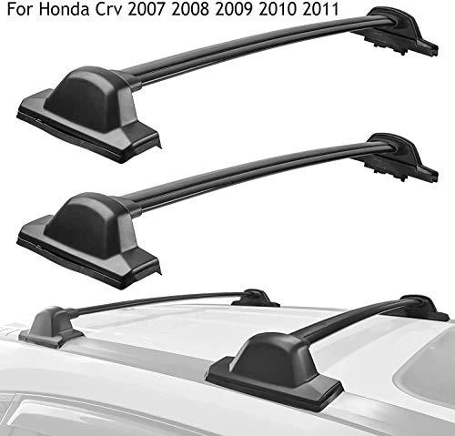 CCIG Barra Transversal De 2 Piezas para Honda CRV 2007 2008 2009 2010 2011 Barra De Techo Barra De Canoa Barra De Kayak