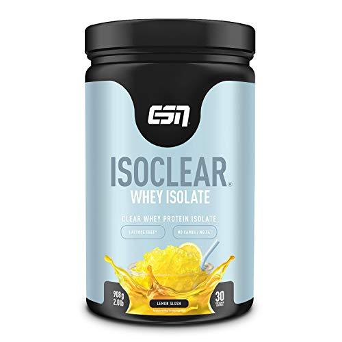 ESN Isoclear® Whey Isolate – 908g – Lemon Slush – klarer Protein-Softdrink – praktisch laktose-, zucker- & fettfrei – reich an EAAs & BCAAs – erfrischend fruchtig – 30 Portionen – Made in Germany