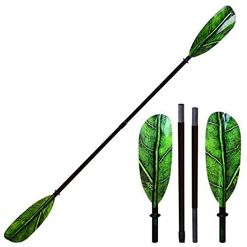 ExtaSea Leaf Vario Fiberglas Doppelpaddel Kajak Paddel 4-teilig | 230-240cm