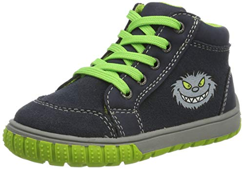 Lurchi Baby Jungen BEO Sneaker, Blau (Navy 22), 21 EU