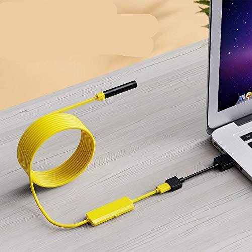 xiaoxioaguo Cámara endoscopio WiFi 8mm 1200P IP67 impermeable USB de inspección boroscopio inalámbrico