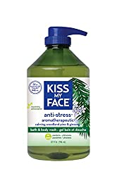 Kiss My Face Anti-stress Bath and Shower Gel, Moisturizing Body Wash