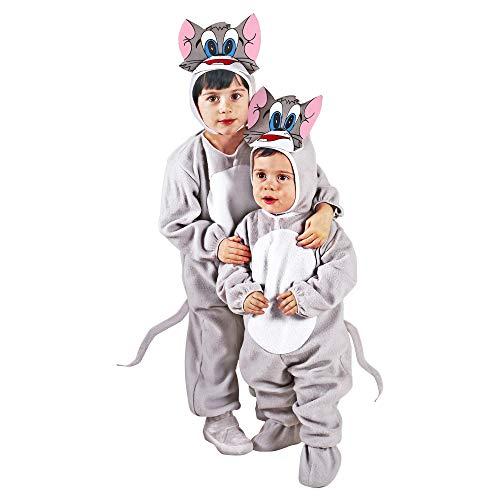 WIDMANN - Disfraz de gato para niños, multicolor, 110 cm/3 – 4 años, 36029