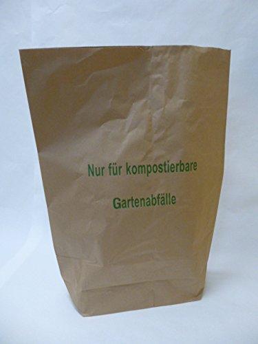 Rodenbacher Papieragentur GmbH 25 St. Papier-Bioabfallsäcke 120l Format 70x95x22 cm Motiv: Kompostabfälle, 2lagig, mit extra Bodendeckblatt