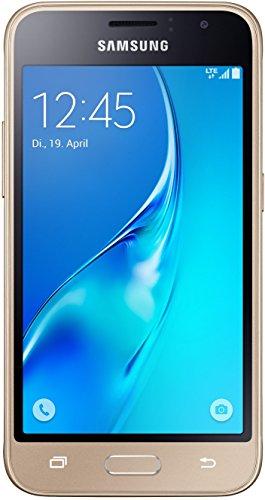 Samsung Galaxy J1 (2016) Smartphone (4,5 Zoll (11,41 cm) Touch-Bildschirm, 8 GB Speicher, Android 5.1) gold