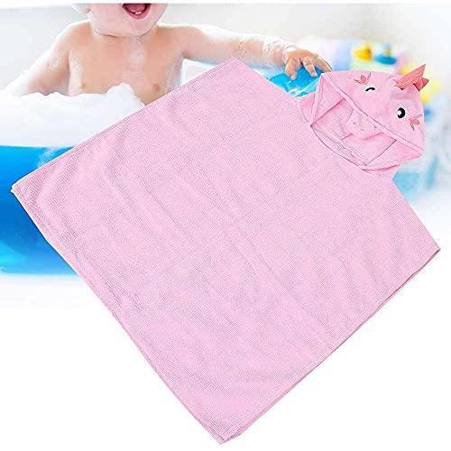 Yuyanshop Toalla de baño con capucha, toalla de bebé ultra suave con capucha para bebés y niños pequeños, toalla de bebé natural ultra absorbente, perfecta para regalo de niño y niña
