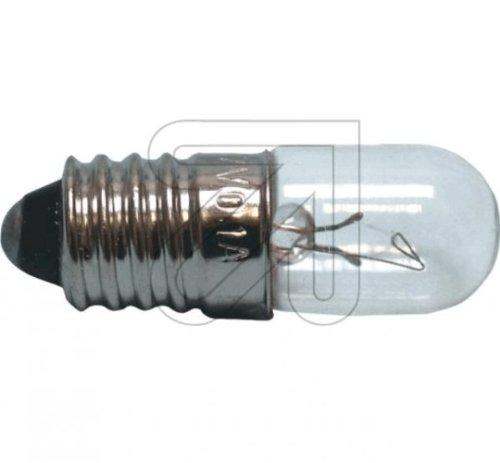 10 Stück Röhrenlampe E10 12 V 0,1 A Glühlampe Glühbirne